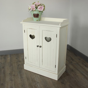 Ivory Heart Storage Cupboard