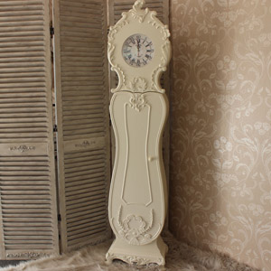 Kensington Range - Cream Ornate Grandfather Clock DAMAGED SECOND ITEM 0096