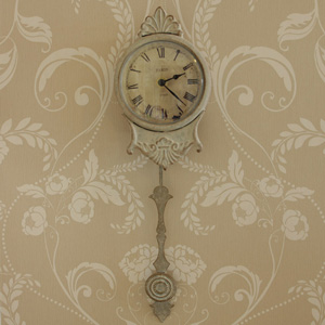 Cream Pendulum Wall Clock