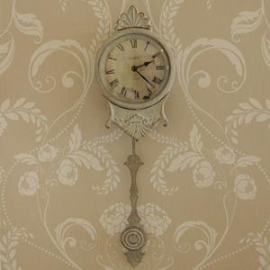 Cream Pendulum Wall Clock