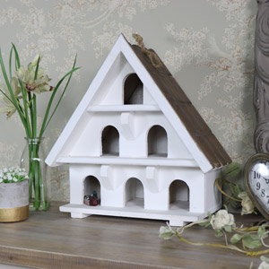 White Wooden Ornamental Dovecote House