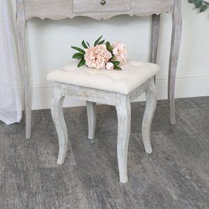 Cushioned Wooden Stool - Temperley Range