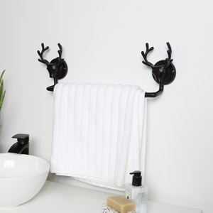 Dark Brown Stag Towel Rail