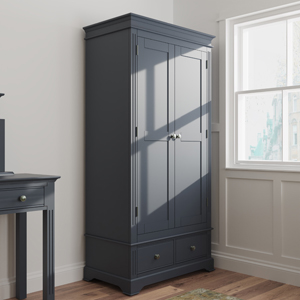 Dark Grey Double Wardrobe Brooklyn Range