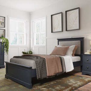 Dark Grey Single Bed - Brooklyn Range