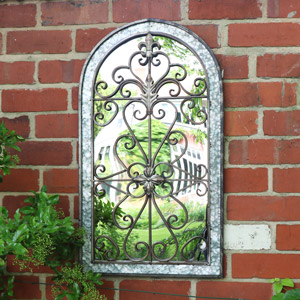 Decorative Arched Wall Mirror 46cm x 82cm