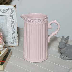 Decorative Ceramic Pink Jug