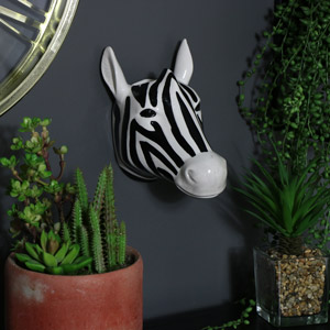 Decorative  Ceramic Wall Mounted Zebra Head