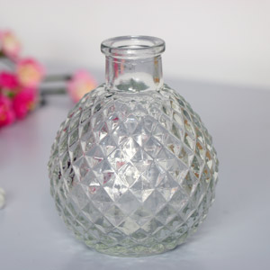 Decorative Clear Glass Bottle Vase