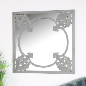 Decorative Grey Wall Mirror