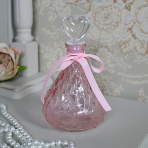Decorative Light Pink Glass Perfume Bottle