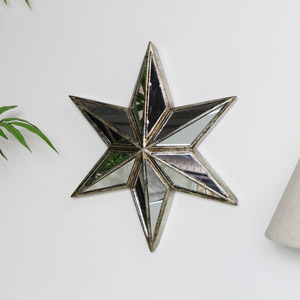 Decorative Star Wall Mirror Art