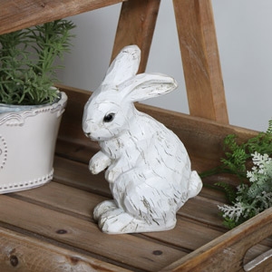 Decorative White Rabbit Ornament