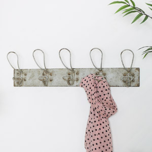 Distressed Metal Wall Hooks