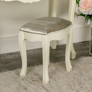 Cream Dressing Table Stool - Elise Cream Range 42cm x 44cm