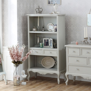 Bookcase with Drawers - Elise Grey Range