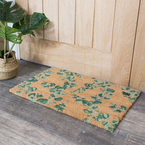 Eucalyptus Print Coir Door Mat