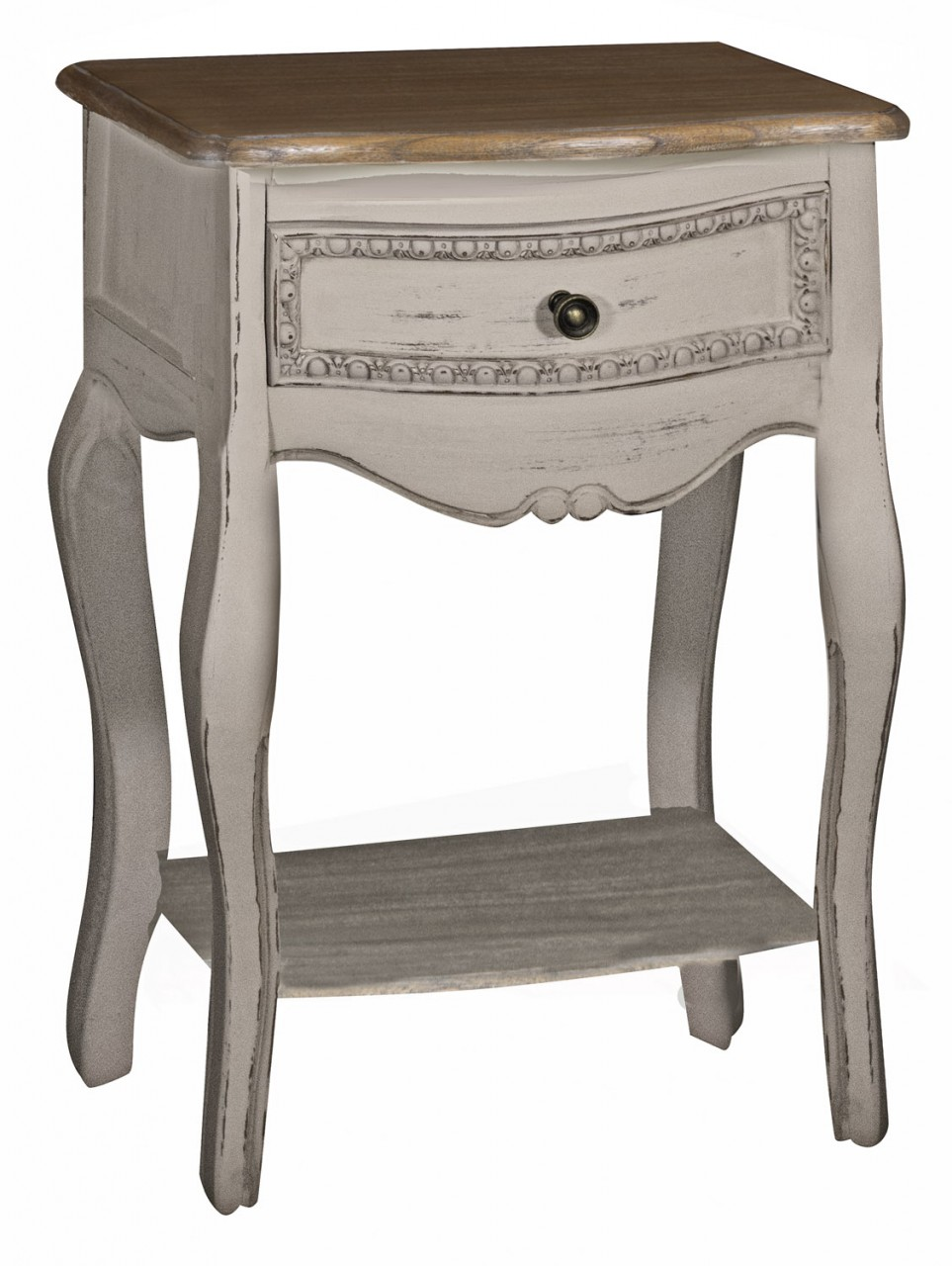 Evelyn Range - Grey One Drawer Bedside Table
