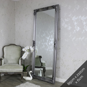 Extra, Extra Large Ornate Antique Silver Full Length Wall/Floor Mirror 85cm x 210cm