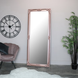 Extra, Extra Large Ornate Rose Gold Pink Full Length Mirror