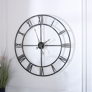 Extra Large Antique Brass Skeleton Clock