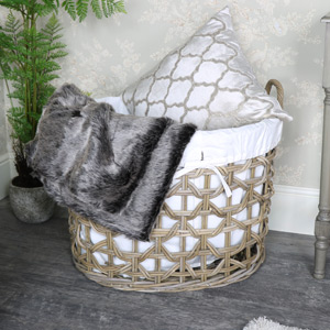 Extra Large Rattan Laundry Storage Basket