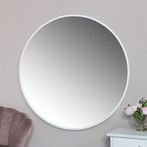 Extra Large Round White Wall Mirror 120cm x 120cm