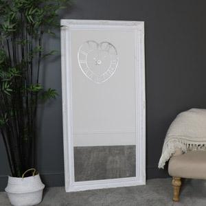 Extra Large White Wall/Floor Mirror 158cm x 78cm