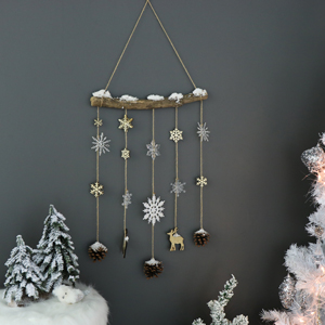 Festive Christmas Woodland Hanging Decoration