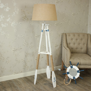 Floor Standing Nautical Oar Tripod Lamp