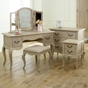 French Bedroom Furniture, Chest of Drawers, Dressing Table Set & Bedside - Brigitte Range