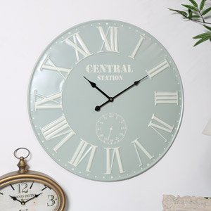 French Grey & Cream Wall Clock
