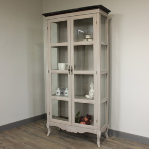 French Grey Range - Glazed Display Cabinet