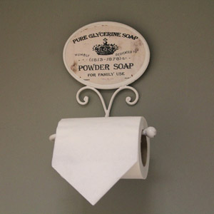 French Style Toilet Roll Holder