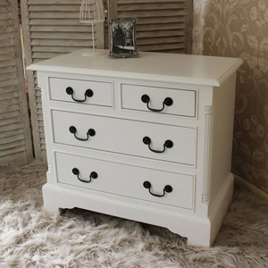 Georgiano Range - White 4 Drawer Chest of Drawers