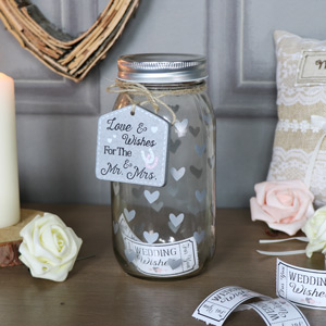 Glass Wedding Wish Jar