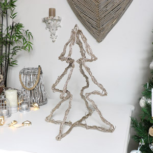Glitter LED Rattan Christmas Tree