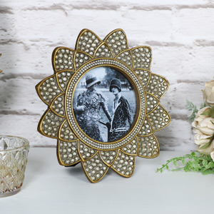 Gold Art Deco style Photograph Frame