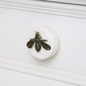 Gold Bee Marble Drawer Knob