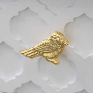 Gold Bird Drawer Knob