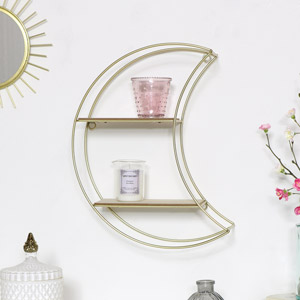 Gold Crescent Moon Shelf