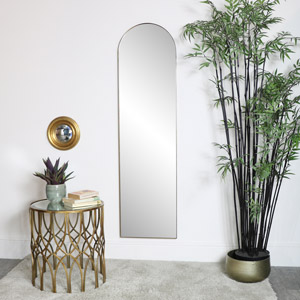 Gold Framed Arch Wall Mirror