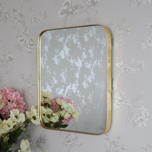 Medium Gold Framed Vintage Wall Mounted Mirror