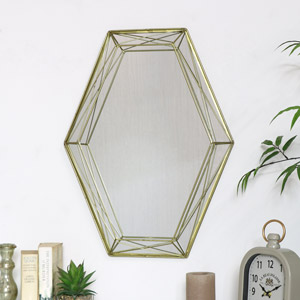 Gold Geometric Wall Mirror