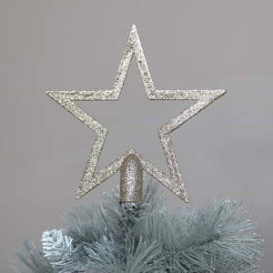 Gold Glitter Christmas Star Tree Topper