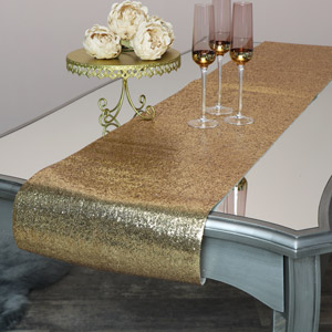 Gold Glitter Table Runner