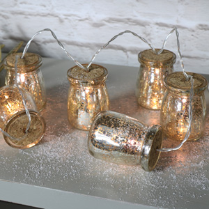 Gold Jar Fairy Light Garland
