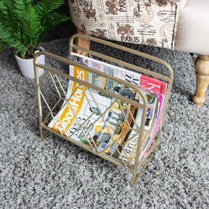 Gold Metal Magazine Rack