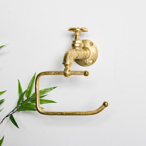 Gold Metal Tap Toilet Roll Holder