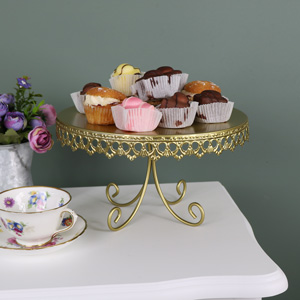 Gold Metal Vintage Cake Display Stand